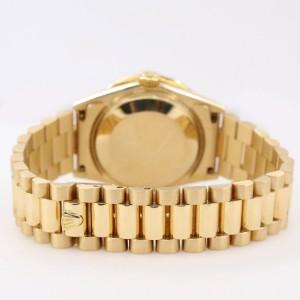Rolex President Datejust Yellow Gold 31mm Watch w/ White MOP Diamond Dial