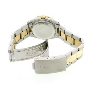 Rolex Datejust 2-Tone Gold/SS Midsize 31mm Women's Watch with White MOP Dial & Diamond Bezel