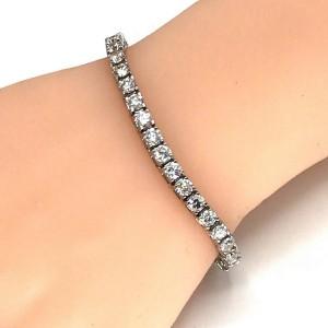 Beautiful Ladies Platinum 9.50 Carat Diamond Tennis Bracelet