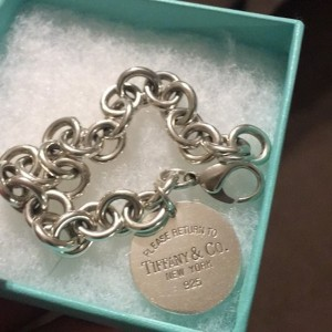 Tiffany & Co. Sterling Silver Oval Tag Charm Bracelet