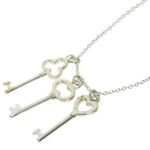 TIFFANY & Co. Silver Three key Necklace