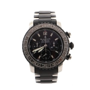 Blancpain Air Command Flyback Chronograph Automatic Watch Stainless Steel and Rubber 40