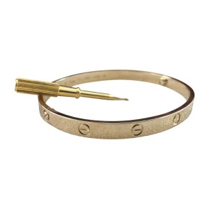 Cartier Love Bracelet Yellow Gold Size 21 (New Screw System)