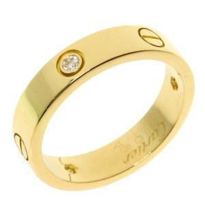 CARTIER half Diamond 18k Yellow Gold Ring