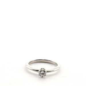 Tiffany & Co. Solitaire Ring Platinum with RBC Diamond D/IF .22CT