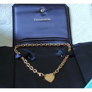 Tiffany & Co. Return To Tiffany 18K Yellow Gold Heart Tag Choker Necklace