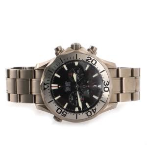 Omega Seamaster Professional Diver 300M Chronograph Automatic Watch Titanium 42