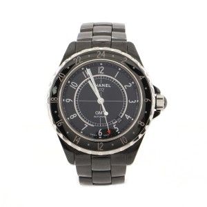 Chanel J12 GMT Automatic Watch Ceramic and Stainless Steel 42