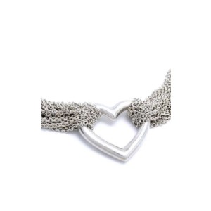 Tiffany & Co. 925 Sterling Silver Multi Strand Heart Choker