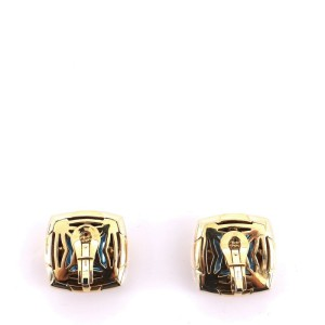 Bvlgari Piramide Clip On Earrings 18K Yellow Gold and 18K White Gold with Topaz