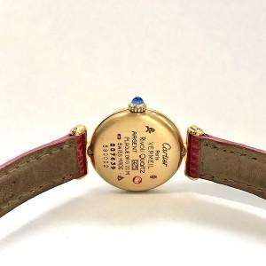 CARTIER VERMEIL COLISÈE Quartz GoldPlated Argent Watch DIAMONDS & Pink Sapphires
