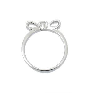 CHANEL 18K White Gold Ruban Diamond Ring