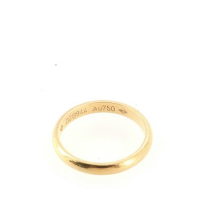 Cartier 1895 Wedding Band Ring 18K Yellow Gold with Diamond Small