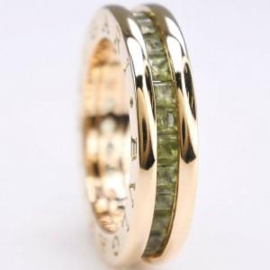 BVLGARI B.Zero 1 18k Yellow Gold and Peridot Ring 4.25