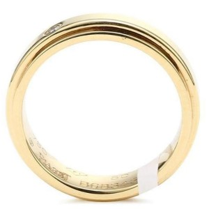 Piaget 18K Yellow Gold Diamond Ring Size 8.25