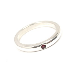Tiffany & Co. Elsa Peretti 925 Sterling Silver and Ruby Ring Size 6