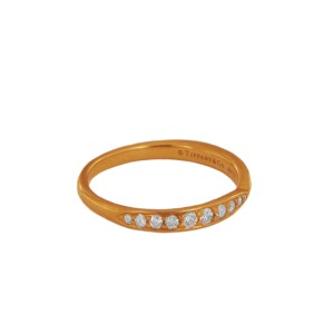Tiffany 18k Rose Gold Harmony Ring with Diamonds