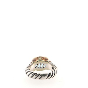 David Yurman Noblesse Ring Sterling Silver with 14K Yellow Gold and Topaz 10mm 5.75 - 51