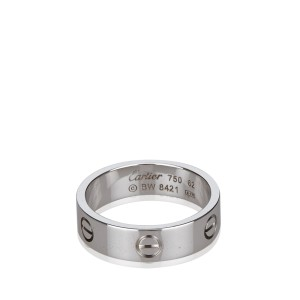 Cartier 18K White Gold Love Ring Size 10