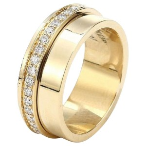 Piaget G34PX3 18K Yellow Gold Diamonds Ring Size 7.25