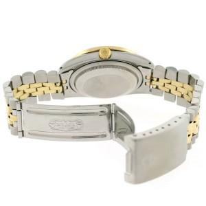 Rolex Datejust 2-Tone 18K Gold/SS 36mm Automatic Jubilee Watch w/MOP Roman Diamond Dial & 1.85Ct Bezel