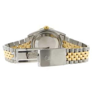 Rolex Datejust 2-Tone 18K Gold/SS 36mm Automatic Jubilee Watch with Rhodium Diamond Dial & Bezel