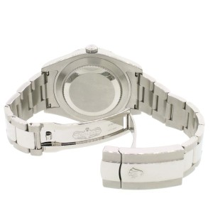Rolex Datejust II 41mm Steel Watch 116300 w/5.57ct Pave Diamond Dial, Bezel, Lugs, Box & Papers