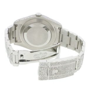 Rolex Datejust II 41MM Stainless Automatic Oyster w/10.52Ct Diamond Dial, Lugs, Case & Bracelet 116300 Box Papers
