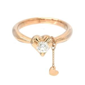 SAMISTAR-D 18k pink gold Diamond Heart Ring