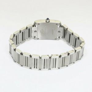 CARTIER W5126Q3 Stainless Steel Tank francase SM Watch