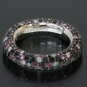 Ponte Vecchio 18K White Gold Eterno Multi Stone Band Ring