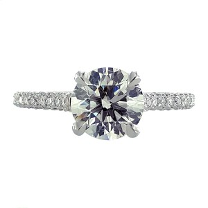 Michael B. Paris Platinum Diamond Ring Size 6.5