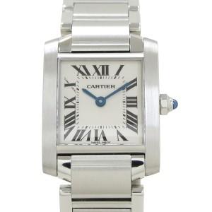 Cartier Tank Francaise Stainless Steel  Quartz Womens 25mm Watch