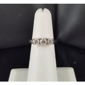 14K White Gold 1.00ct. Diamond Engagement Ring Size 6.0