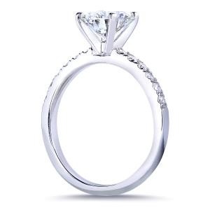Round Diamond Engagement Ring 1 4/5 Carat (ctw) in 14k White Gold