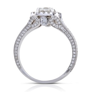 Emerald-cut Diamond Engagement Ring 1 3/4 Carat (ctw) in 18k White Gold