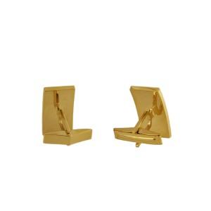 Custom Made 14k Yellow Gold Diamond Cufflinks