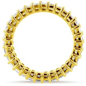 Princess Baguette Diamond Eternity Band 3 4/5 CTW in 14K Yellow Gold