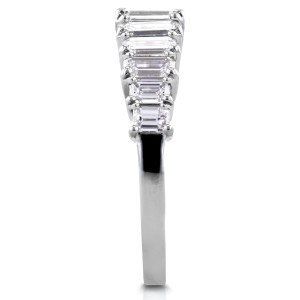 Emerald Diamond Wedding Ring 2 1/2 CTW in Platinum
