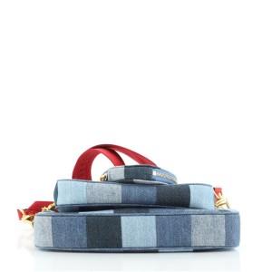 Louis Vuitton Multi Pochette Accessoires Damier and Monogram Patchwork Denim