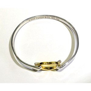 Tiffany & Co. 18K Yellow Gold and 925 Sterling Silver Heart Bracelet