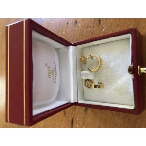 Cartier Love 18K Yellow Gold Earrings