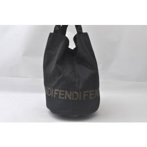 FENDI Nylon Leather Hand Bag