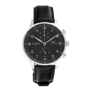 IWC Portuguese 3714-47 Stainless Steel / Leather 40.9mm Mens Watch