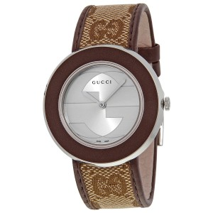 Gucci U-Play Stainless Steel & Leather 35mm Watch