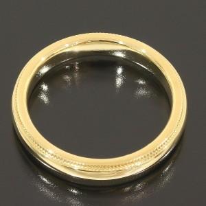 Tiffany & Co. 18K Yellow Gold Milgrain Wedding Band Ring Size 5.5