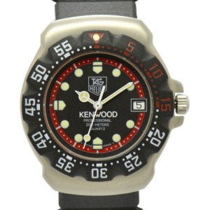 Tag Heuer Formula1 Kenwood Stainless Steel & Rubber Mens Watch