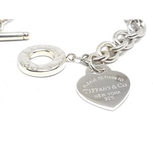 Tiffany & Co Return To Tiffany Heart Tag Sterling Silver Toggle Bracelet