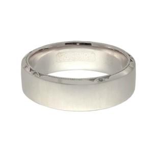 Tacori Satin Finished 18K White Gold .03ctw Diamond Ring Size 11