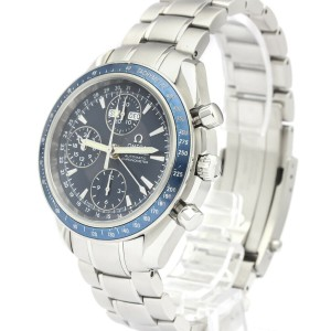Polished OMEGA Speedmaster Day Date Steel Automatic Mens Watch 3222.80